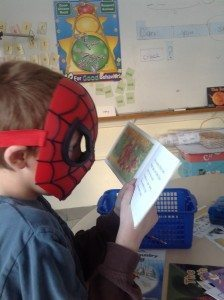 Spidey loves to read!